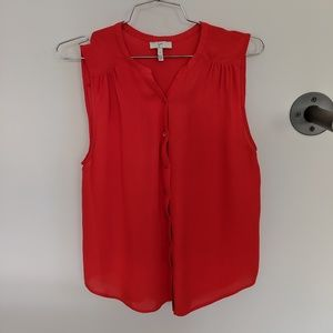 Joie silk red blouse